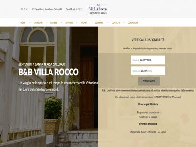 Sito del B&B Villa Rocco